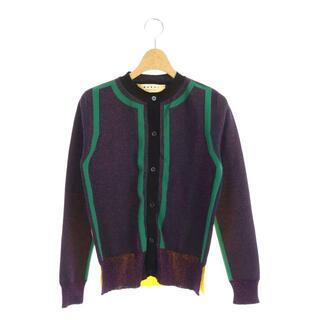 マルニ(Marni)のマルニ MARNI ラメニットカーディガン 長袖 前開き 40 紫 パープル(その他)