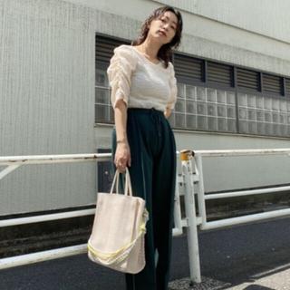 カスタネ(Kastane)の人気 カスタネ ジャガードレースシャーリングT(Tシャツ(長袖/七分))