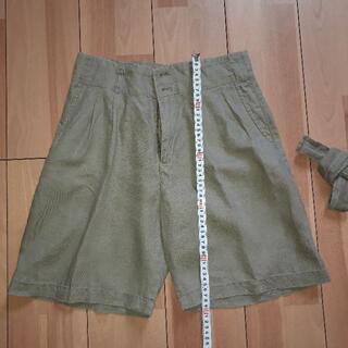ムジルシリョウヒン(MUJI (無印良品))の無印良品・麻100%・ ショートパンツ ・64サイズ・レディース(ショートパンツ)