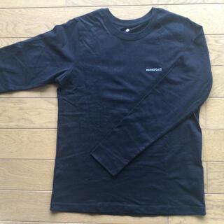 モンベル(mont bell)のモンベル Tシャツ 長袖 無地 黒 綿100% L(Tシャツ(長袖/七分))