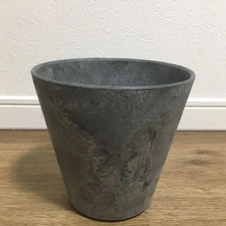 新品 アートストーン 植木鉢 鉢 グレー(プランター)