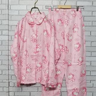 未使用 ハローキティ パジャマ ルームウェア キティちゃん 上下 セット レトロ