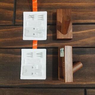 ムジルシリョウヒン(MUJI (無印良品))の無印良品 壁に付けられる家具フック ウォールナット材(その他)