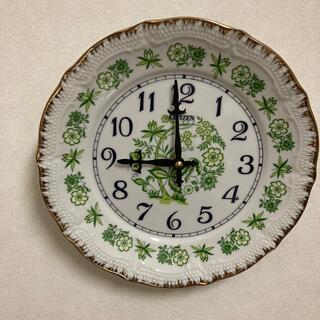 CITIZEN - レア!!昭和レトロ citizen プレート型 皿型 掛け時計 ウォールクロック