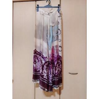ドリスヴァンノッテン(DRIES VAN NOTEN)のDRIS VAN NOTENドリスヴァンノッテン芸術的なシルクマキシスカート(ロングスカート)
