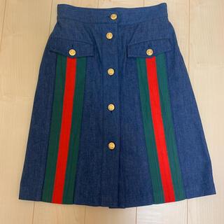 グッチ(Gucci)のグッチ デニムスカート(ひざ丈スカート)