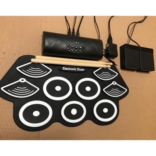 2020年最新版 電子ドラム ポータブルドラム Bluetooth機能付き (電子ドラム)