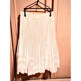 クレージュ(Courreges)のクレージュ 膝丈スカート 36サイズ ホワイト(ひざ丈スカート)