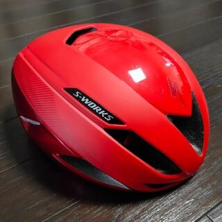 スペシャライズド(Specialized)のSPECIALIZED S-Works EvadeⅡ ヘルメット 赤(ウエア)