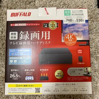 バッファロー(Buffalo)のBUFFALO パソコン&テレビ録画用外付けHD 6.0TB(テレビ)