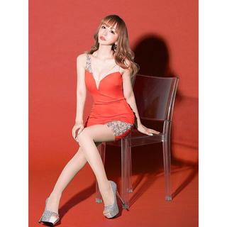 エンジェルアール(AngelR)の21317*sugar限定カラー*サマーオレンジ/アシンメトリービジュードレス(ナイトドレス)