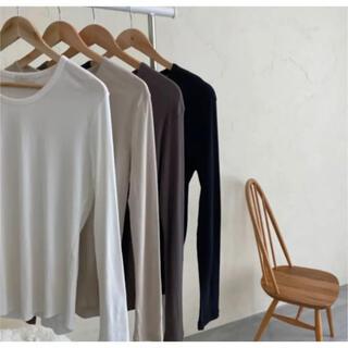 カスタネ(Kastane)のi_am natural long shirt beige(Tシャツ(長袖/七分))