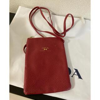 新品未使用 赤 レッド パスポートケース ミニショルダーバック(旅行用品)