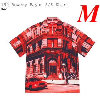 シュプリーム(Supreme)のSupreme 190 Bowery Rayon S/S Shirt RED M(シャツ)