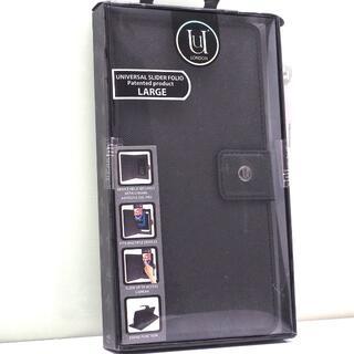 スマートフォン 汎用 手帳型ケース マルチカバー Lサイズ 黒(モバイルケース/カバー)