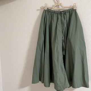 ムジルシリョウヒン(MUJI (無印良品))の無印良品 スカート カーキ(ひざ丈スカート)