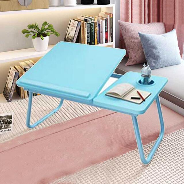 折りたたみテーブル ベッドテーブル ミニテーブル ローテーブル コンパクト 軽量 インテリア/住まい/日用品の机/テーブル(ローテーブル)の商品写真