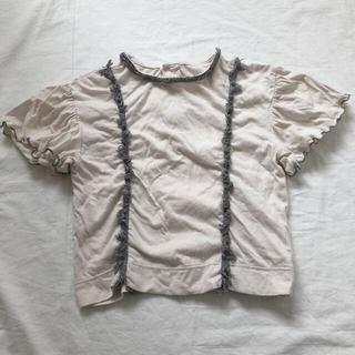 エフオーキッズ(F.O.KIDS)のアプレレクール フリンジ付き Tシャツ 100cm(Tシャツ/カットソー)