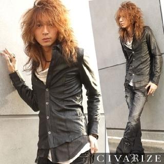 CIVARIZEラムレザーシャツ FUGA SEANA YKK(レザージャケット)