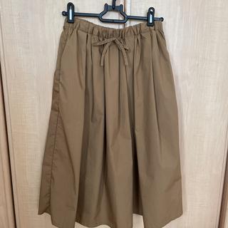 ムジルシリョウヒン(MUJI (無印良品))の無印のキャメルスカートS〜Mサイズ(ひざ丈スカート)