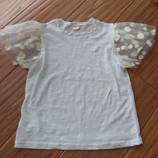 ディーホリック(dholic)の【新品】DHOLIC KIDS フラワーシアースリーブTシャツ(Tシャツ/カットソー)