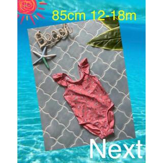 ネクスト(NEXT)の☀︎next 85cmピンク小花ワンピース水着12-18m(水着)