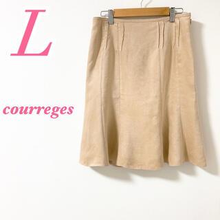 クレージュ(Courreges)のcourreges クレージュ 膝丈スカート フレア フェイクスウェード(ひざ丈スカート)