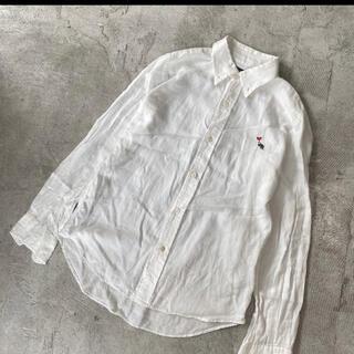 Bohemians - ボヘミアンズ カブトムシ ハート 刺繍 ガーゼ シャツ ホワイト サイズ 1