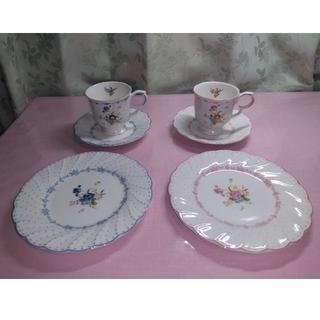 ニッコー(NIKKO)のNIKKO ピオニールカップ ソーサー 皿 2客 & 九谷焼 翠穂(グラス/カップ)