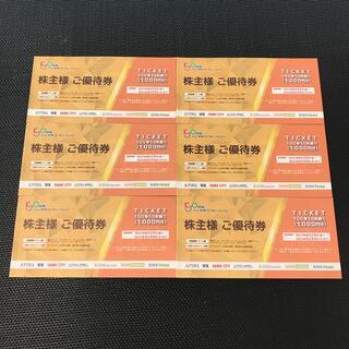 共和コーポレーションの株主優待券 6000円分(100円券の10枚綴り6セット)(その他)