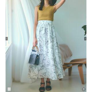 グレイル(GRL)の【期間限定お値下げ25日まで!】ロングスカート 花柄 ホワイト グレイル(ロングスカート)