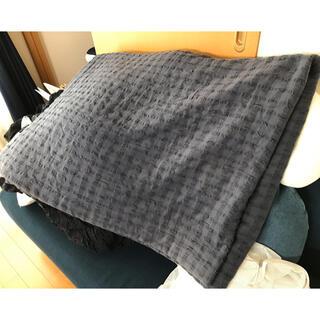 ムジルシリョウヒン(MUJI (無印良品))の無印良品 薄掛け布団 ネイビー シングルサイズ(布団)