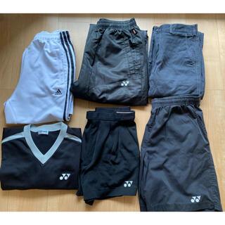 アディダス(adidas)のアディダス ヨネックス ウェア パンツ サイズL おまけ付 6点セット  (バドミントン)