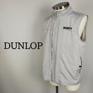 DUNLOP ダンロップ モータースポーツ ナイロンベスト ゴルフ グレー S