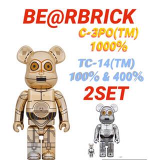 BE@RBRICK TC-14 100%&400% C-3PO 1000%セット(フィギュア)