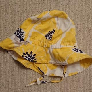 帽子 UV加工 黄色 花柄 女の子(帽子)