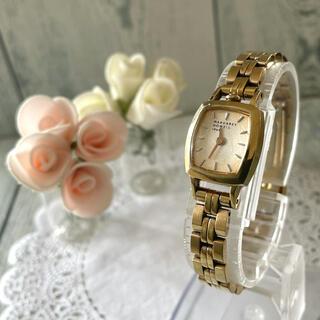 マーガレットハウエル(MARGARET HOWELL)の【動作OK】MARGARET HOWELL 腕時計 スクエア ゴールド(腕時計)