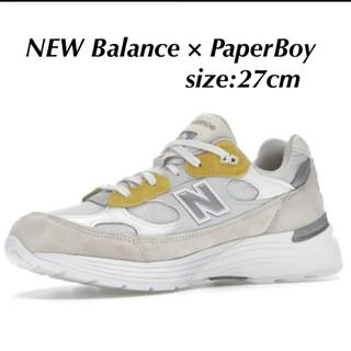 ニューバランス(New Balance)の最終値下げ! PAPERBOY x NEW BALANCE 992 27㎝(スニーカー)