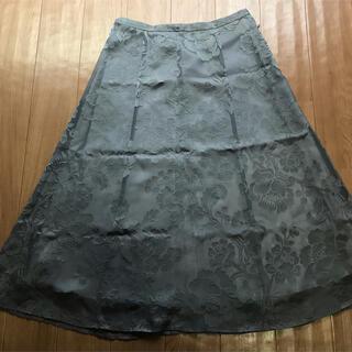 ローラアシュレイ(LAURA ASHLEY)のローラアシュレイ スカート グレイ M(ロングスカート)
