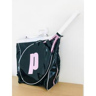 Prince - 【希少】プリンス『テニスラケットバッグ』エナメルトートバッグ/ブラック&ピンク