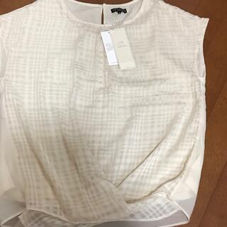 ニジュウサンク(23区)の23区⭐️新品タグ付き。ノースリーブ(Tシャツ(半袖/袖なし))