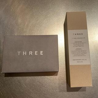 スリー(THREE)の新品未使用THREE フルボディエマルションACR150mLと洗顔料のセット商品(ボディローション/ミルク)