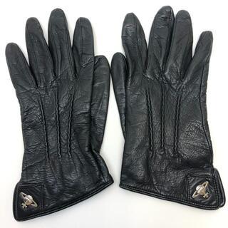 ヴィヴィアンウエストウッド(Vivienne Westwood)のヴィヴィアンウエストウッド レザー グローブ 手袋 レザー ブラック(手袋)