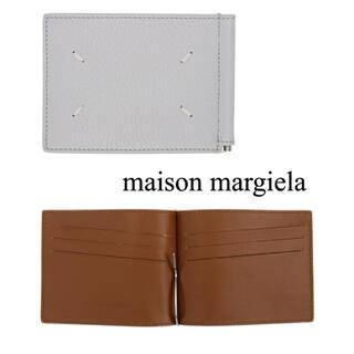 マルタンマルジェラ(Maison Martin Margiela)のmaisonmargielaメゾンマルジェラグレーマネークリップケース新品(マネークリップ)