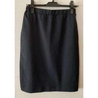 ムジルシリョウヒン(MUJI (無印良品))の無印良品 ポンチイージータイトカート ブラックM(ひざ丈スカート)