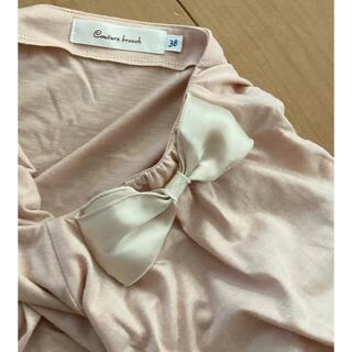 クチュールブローチ(Couture Brooch)のクチュールブローチ 肩リボンカットソー(カットソー(半袖/袖なし))