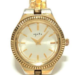 アガット(agete)のアガット 腕時計 - レディース ゴールド(腕時計)