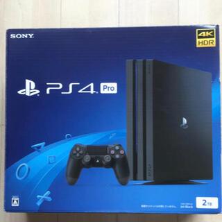 プレイステーション(PlayStation)のPS4 PRO ジェット・ブラック2TB(家庭用ゲーム機本体)