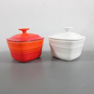 ルクルーゼ(LE CREUSET)のルクルーゼ 食器新品同様  - 白×レッド(その他)