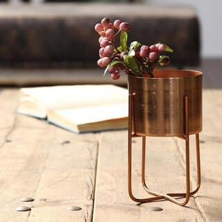 プランターラック アイアン 脚付き ブラス 真鍮 鉢カバー(プランター)